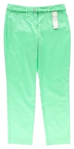 Charter Club Green Slimming Classic Ankle Slacks Straight Pants MINT GREEN