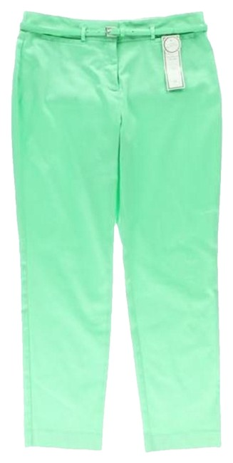 Charter Club Slimming Classic Ankle Slacks Straight Pants MINT GREEN
