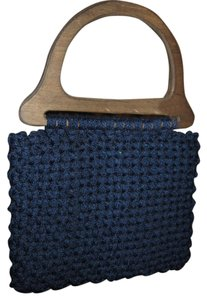 Funky Unique Handmade Tote in Navy Blue