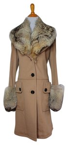 Burberry Cashmere Fur Wool Winter Fur Coat