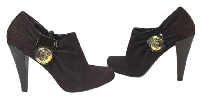 """Item - """"Hysteria"""" Plum Dark Leather Logo Ankle Boots/Booties Size US 8.5 Regular (M, B)"""