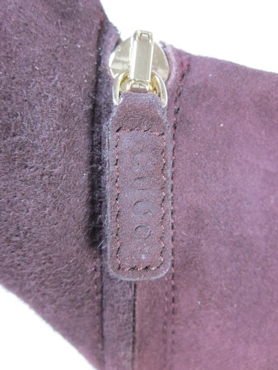 Gucci Logo Leather Short Plum Boots Image 4