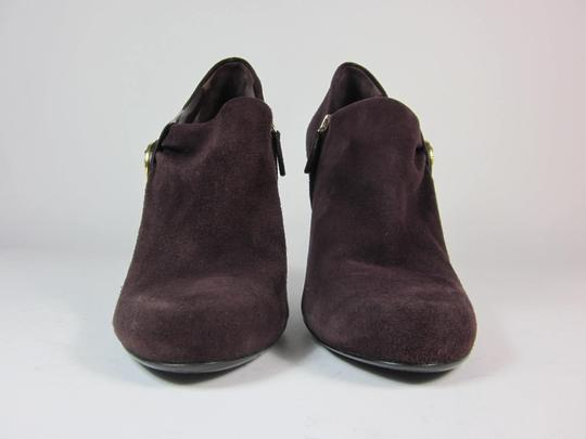 Gucci Logo Leather Short Plum Boots Image 5
