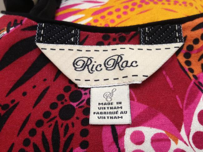 Ric Rac Puff Sleeves Empire Waist Top Multi-Color Image 4