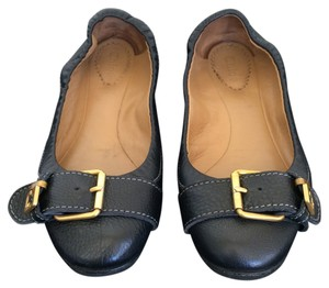 Chloé Leather Black Flats