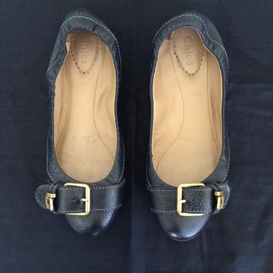 Chloé Leather Black Flats Image 3
