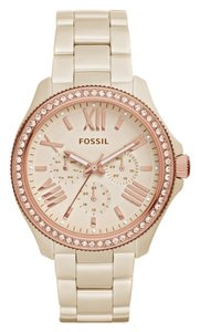 Fossil Fossil Toasted Almond Cecile Multifunction Women's Ceramic Watch CE1092