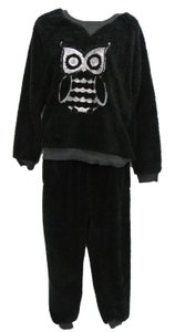 Kensie Kensie Fleece Embellished Owl Lounge Set Size Medium