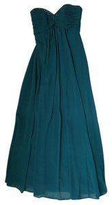 David's Bridal Peacock Floorlength Sweetheart Bridesmaid Dress