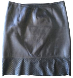 Vince Leather Mini Skirt Black
