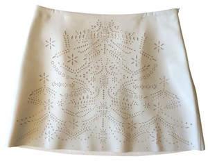 Zara Faux Leather Mini Skirt White