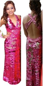 WOW! Prom & Pageant Long Gown Long Open Back Formal Gown Dress