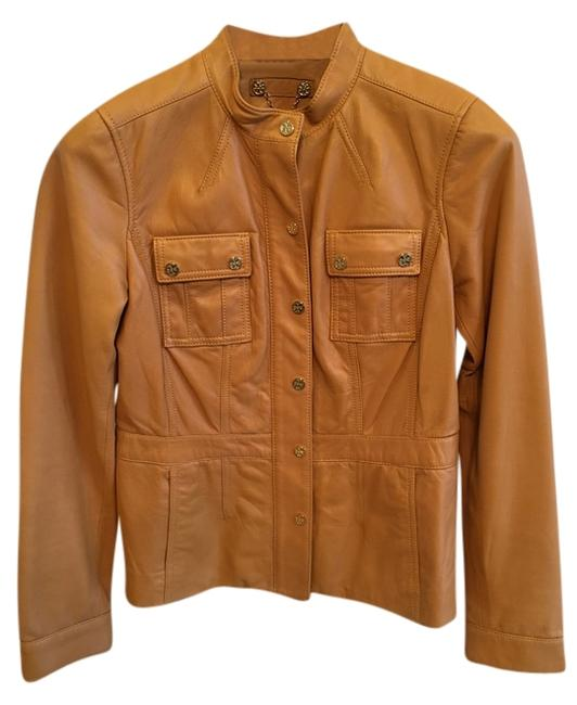 Tory Burch Tan Leather Jacket Image 0