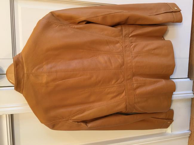 Tory Burch Tan Leather Jacket Image 1