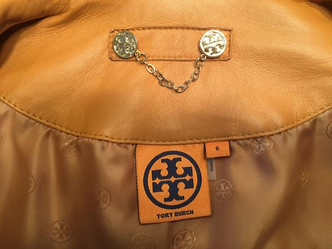 Tory Burch Tan Leather Jacket Image 2