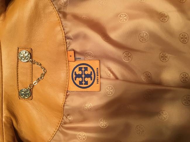 Tory Burch Tan Leather Jacket Image 3