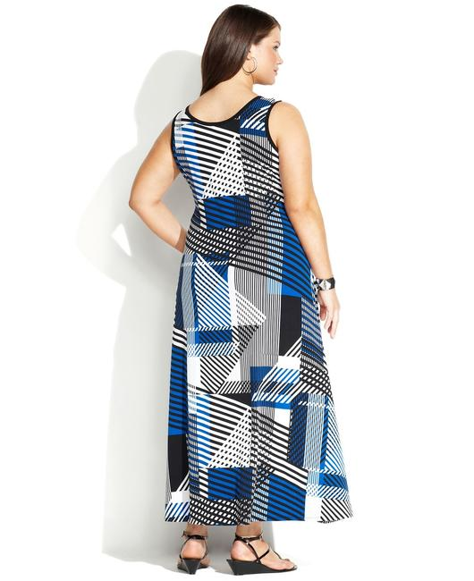 Maxi Dress by Calvin Klein Size 1x Geometric Print Plus Size