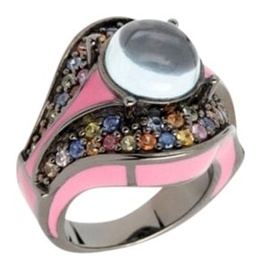 M.C.L by Matthew Campbell Laurenza MCL By MATTHEW CAMPBELL LAURENZA Sapphire Topaz Enamel Sterling Ring