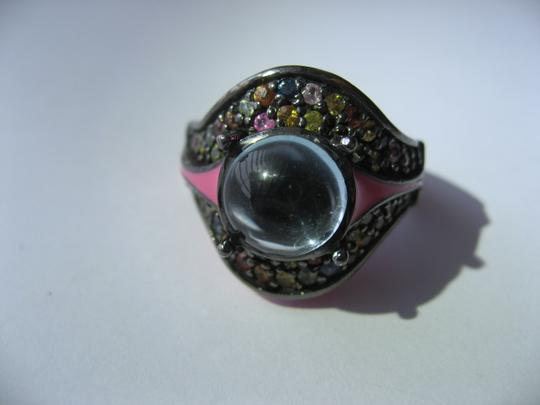 M.C.L by Matthew Campbell Laurenza MCL By MATTHEW CAMPBELL LAURENZA Sapphire Topaz Enamel Sterling Ring Image 1