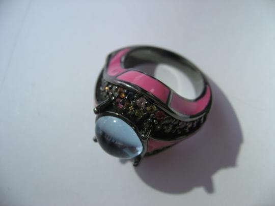 M.C.L by Matthew Campbell Laurenza MCL By MATTHEW CAMPBELL LAURENZA Sapphire Topaz Enamel Sterling Ring Image 2
