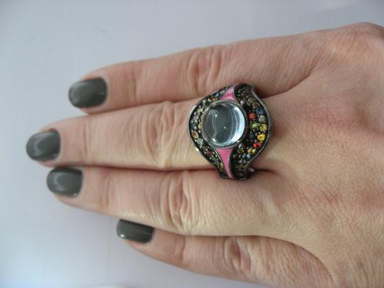 M.C.L by Matthew Campbell Laurenza MCL By MATTHEW CAMPBELL LAURENZA Sapphire Topaz Enamel Sterling Ring Image 3