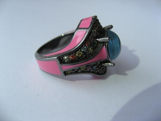 M.C.L by Matthew Campbell Laurenza MCL By MATTHEW CAMPBELL LAURENZA Sapphire Topaz Enamel Sterling Ring Image 5