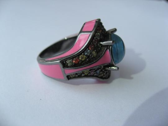 M.C.L by Matthew Campbell Laurenza MCL By MATTHEW CAMPBELL LAURENZA Sapphire Topaz Enamel Sterling Ring Image 7
