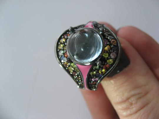 M.C.L by Matthew Campbell Laurenza MCL By MATTHEW CAMPBELL LAURENZA Sapphire Topaz Enamel Sterling Ring Image 8