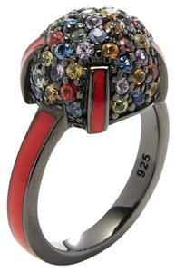 M.C.L by Matthew Campbell Laurenza MCL BY MATTHEW CAMPBELL LAURENZA Sapphire Enamel Silver Cocktail Ring
