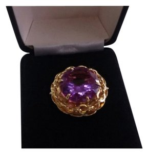 Other 100% Natural Purple Round Amethyst Genuine 18K Rose Ring NEW SIZE 9