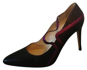 Max Kibardin Electric Purple Detailing Black Pumps