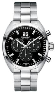 Movado New Movado Men's Swiss Chronograph Datron Stainless Steel Bracelet Watch 40mm 0606476