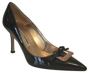 Manolo Blahnik Patent Leather Brown Pumps