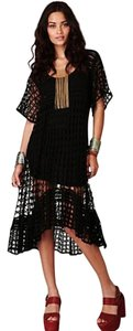 Free People short dress Black Crochet on Tradesy