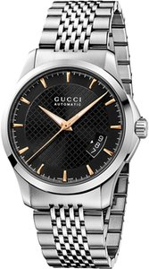 Gucci NEW Gucci G-Timeless Black Dial Automatic Mens Swiss Watch YA126420