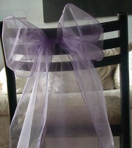 Save On Crafts Lavender / Purple Organza Chair Sashes (Have 160 ) Other
