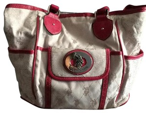 U.S. Polo Assn. Tote in White And Fuchsia