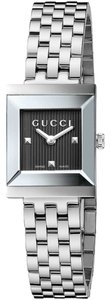 Gucci NEW Gucci G-Frame Black Gullioche Diamond Dial Ladies Swiss Watch YA128403