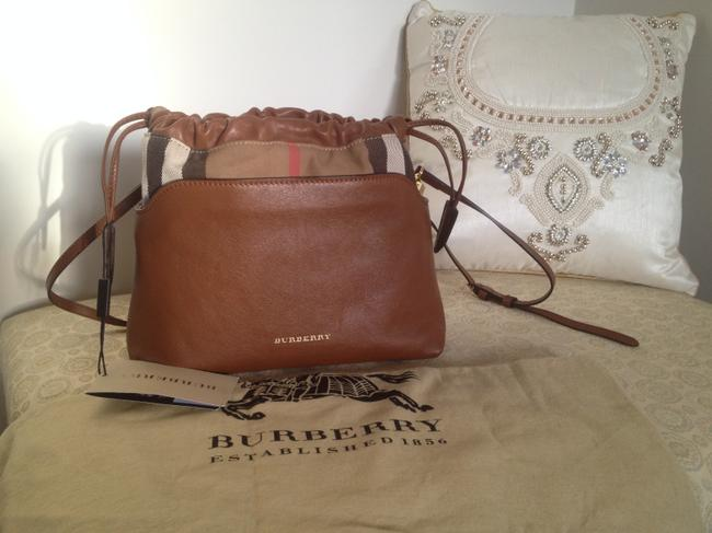 Item - Little Crush Check Brown Leather Cross Body Bag