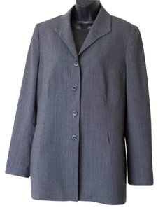 Caslon Size 12 Wool-blend Button Front Gray Blazer