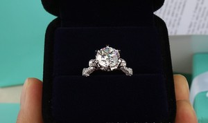 All Sizes Vvs1 3ct Cushion Cut Diamond Engagement Ring Pt950