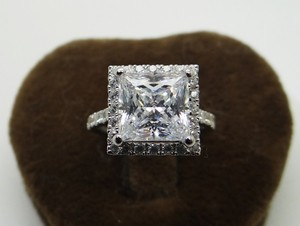 All Sizes Vvs1 3ct Cushion Cut Lab Man Sparkles Diamond Engagement Ring Pt950
