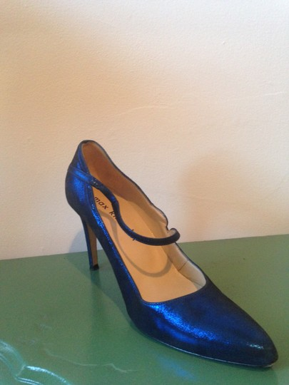 Max Kibardin Leather Electric blue Pumps