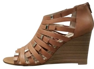 INC International Concepts Stacked Wedge Tan Hazelnut Wedges