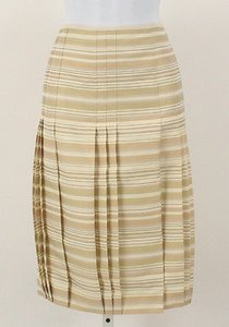 Worth Striped Skirt Khaki and Stone