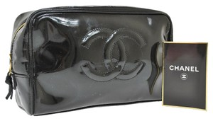 Chanel Chanel Black Cosmetic Pouch Bag