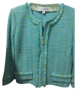 St. John Sea foam green Blazer
