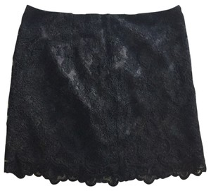MM Couture The Buckle Miss Me Mini Skirt BLACK