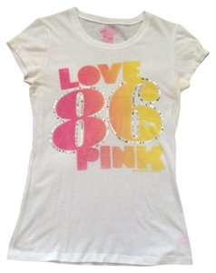 Victoria's Secret T Shirt White pink ombre
