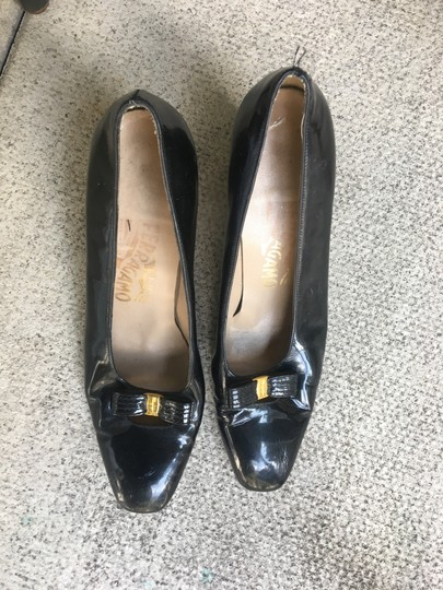 Salvatore Ferragamo Dark navy blue Pumps Image 10